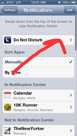Step4 Do Not Disturb iPhone