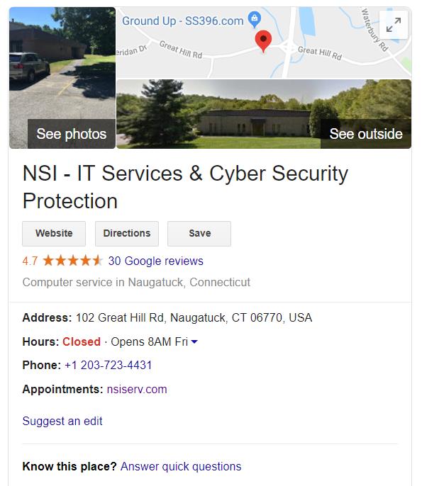 NSI Business Page
